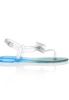 Rock & Co. - Jelly Sandal With Bow Black and Blue