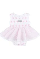 Poogy Bear - Cupcake Romper Dress Pale Pink