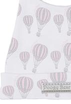 Poogy Bear - Top Knot Beanie Pale Pink