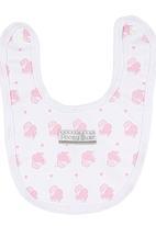 Poogy Bear - Cupcake Bib Pale Pink