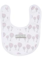 Poogy Bear - Hot Air Balloon Bib Pale Pink