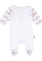 Poogy Bear - Air Balloon Babygrow White