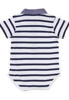 London Hub - Striped Bodysuit Blue and White