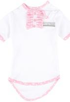 Poogy Bear - Frill Babygrow Pale Pink