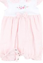 London Hub - Romper With Bow Detail Mid Pink