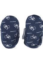 Poogy Bear - Bicycle Fabric Booties Navy