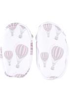Poogy Bear - Hot Air Balloon Fabric Shoes Pale Pink