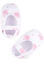 Poogy Bear - Cupcake Fabric Mary-Janes Pale Pink