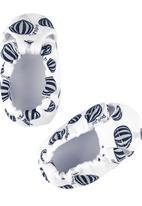 Poogy Bear - Hot Air Balloon Fabric Shoes Navy