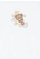 Poogy Bear - Teddy Cellular Blanket White
