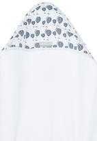 Poogy Bear - Hot Air Balloon Hooded Towel Navy