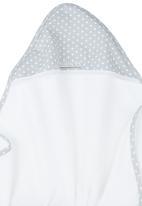 Poogy Bear - Polka Dot Hooded Towel Grey