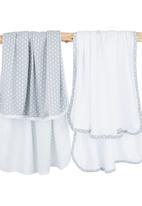 Poogy Bear - Polka Dot Blanket Set Grey