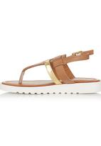 Footwork - Metallic Strap Sandal Tan