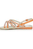Footwork - Diamante Strappy Sandal Orange