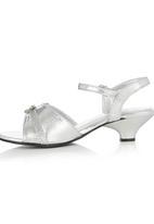 Footwork - Metallic Ankle Strap Kitten Heels Silver