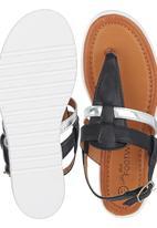 Footwork - Metallic Strap Sandal Black