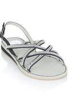 Footwork - Diamante Strappy Sandal Black