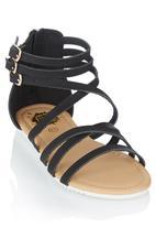 Footwork - Strappy Sandal Black