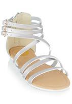 Footwork - Strappy Sandal Silver