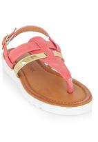 Footwork - Metallic Strap Sandal Mid Pink