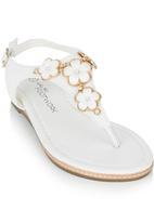 Footwork - Flower T-bar Sandal White