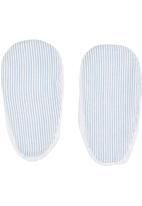 Tic Tac Toe - Anglaise Fabric Mary-Janes White