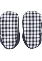 Tic Tac Toe - Gingham Fabric Loafers Navy