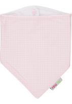 Mina Moo - Baby pink polka dot bib Mid Pink