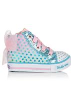 Skechers - Hi-Top Sneaker With Ribbon Detail Turquoise
