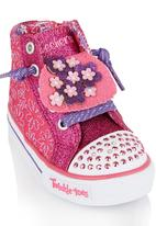 Skechers - Glitter Floral Hi-Top Sneaker Mid Pink