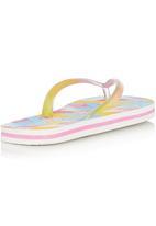 Lizzy - Pink Tropical Flip Flop Multi-colour