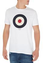 Ben Sherman - Target Print Tee White