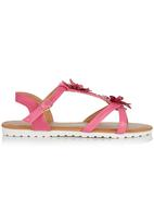 Foot Focus - Floral Sandal Cerise Pink