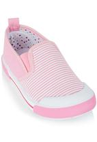 Bubblegummers - Girls Slip Ons Pale Pink