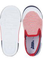 Bubblegummers - Stripe Slip Ons Multi-colour