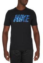Nike - Nike Camo Spill T-shirt Black