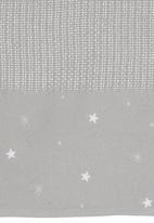 Nocturnal Affair - Star Embroided Cellular Blanket Grey