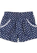 POP CANDY - Polka-dot Shorts Mid Blue