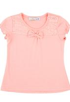 POP CANDY - Top With Bow Detail Mid Pink