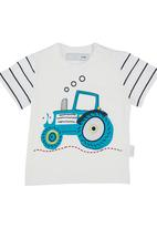 POP CANDY - Tractor T-shirt White