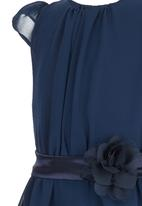See-Saw - Party Dress With Flower Bow Navy