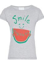 See-Saw - Smile Printed Tee Grey Melange
