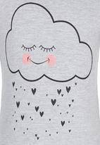 See-Saw - Cloud Printed Tee Grey Melange