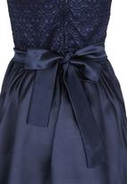 See-Saw - Mesh Combination Dress Navy