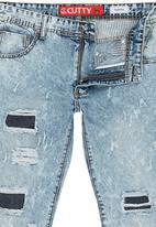 Cutty - Rip & Repair denims Blue black denim