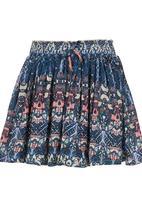Billabong  - Flowy Printed Skirt Mid Blue