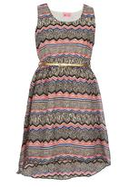 POP CANDY - Zig-Zag  Dress Multi-colour