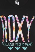 Roxy - V-neck Roxy Tshirt Black
