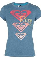 Roxy - Fitted Roxy Tshirt Mid Blue